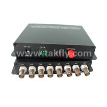 8 channel Video Digital Optical Converter with single fiber