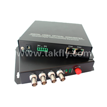 4 channel Video Digital Optical Converter with single fiber