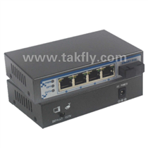 4 port POE optical Ethernet switch(Fiber port)