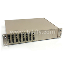 Centerlized 10/100/1000M,10G managed type media converter chassis(Model: TK-NM-16-AB)