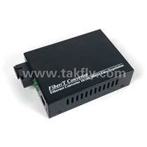 10/100/1000M 1Fiber Port 1 RJ45 Port Fiber Media Converter -Black Housing