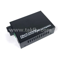 10/100M 1Fiber Port 1 RJ45 Port Fiber Media Converter -Black Housing